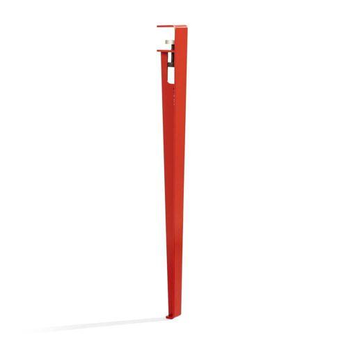TipToe - Tisch- und Schreibtischbein H 75 cm, tomatenrot