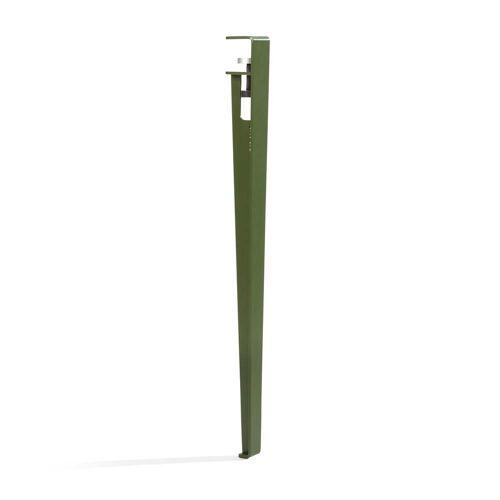 TipToe - Tisch- und Schreibtischbein H 75 cm, rosmarin