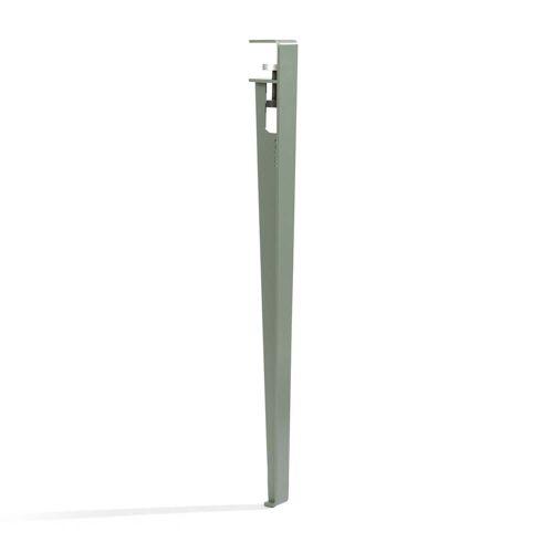 TipToe - Tisch- und Schreibtischbein H 75 cm, eukalyptus grau