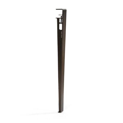 TipToe - Tisch- und Schreibtischbein H 75 cm, patinierter Stahl