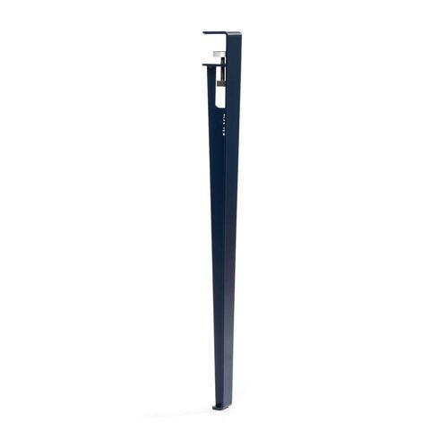 TipToe - Tisch- und Schreibtischbein H 75 cm, mineralblau