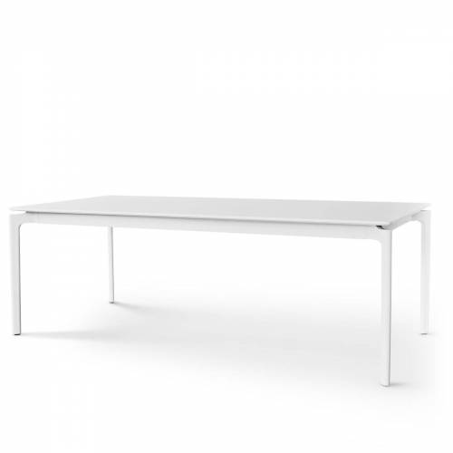 Eva Solo - More Esstisch, 100 x 220/320 cm, Laminat weiß