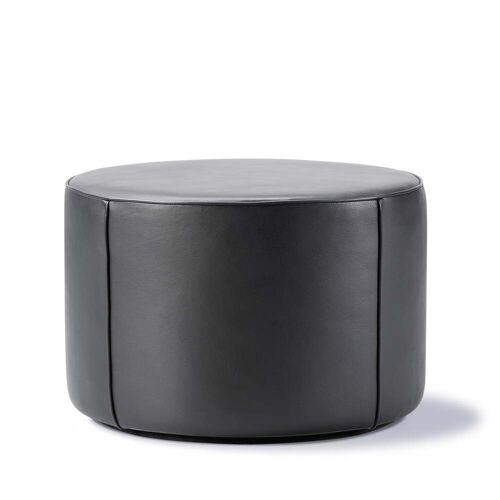 Fredericia - Mono Pouf Ø 55 cm, Leder 301 schwarz