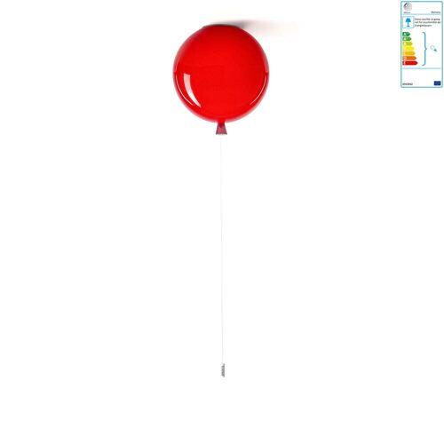 Brokis - Memory Deckenleuchte, Ø 25 x H 27,5 cm, rot / Kabel weiß