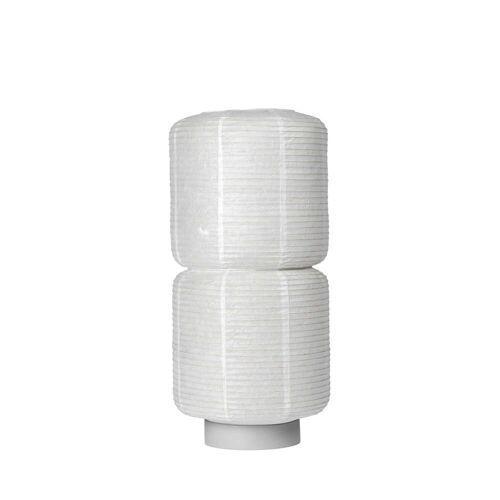 Broste Copenhagen - William Reispapier-Lampenschirm, Ø 26 x H 50 cm, weiß