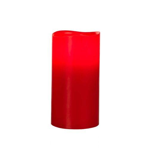 Klein & More - LED Echtwachskerze, Rot L
