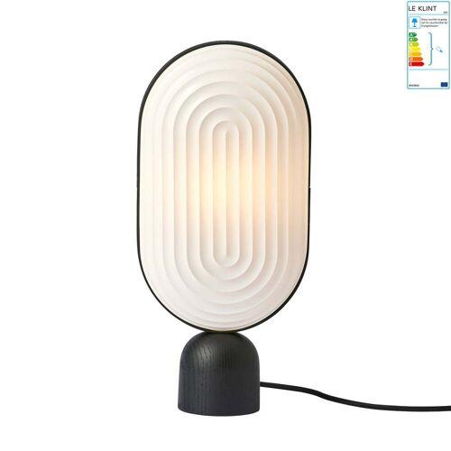 Le Klint - ARC Tischleuchte, Eiche schwarz / Lampenschirm weiß