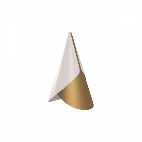 Umage - Cornet Lampenschirm, Ø 13.4 x 23.8 cm, Messing / weiß