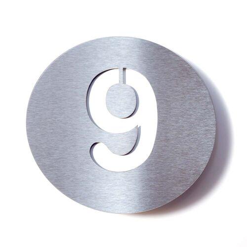 Radius Design - Hausnummer 9, weiß