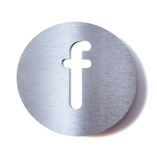 Radius Design - Hausnummer f, weiß