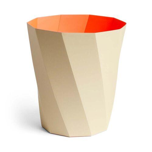 HAY - Paper Paper Papierkorb, Ø 28 x H 30,5 cm, warm beige
