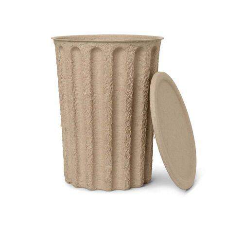 ferm LIVING - Paper Pulp Papiereimer, graubraun