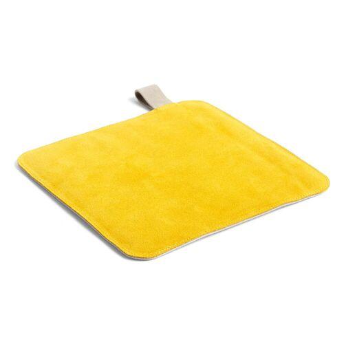 HAY - Suede Topflappen, 21,5 x 21,5 cm, gelb