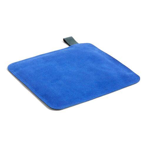 HAY - Suede Topflappen, 21,5 x 21,5 cm, blau