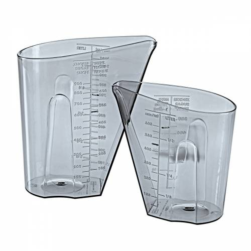 Koziol - Dosis Messbecher Set 0,5 l & 1 l, transparent grey (2er-Set)