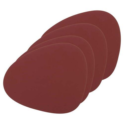 LindDNA - Tischset Curve L, Nupo rot (4er-Set)