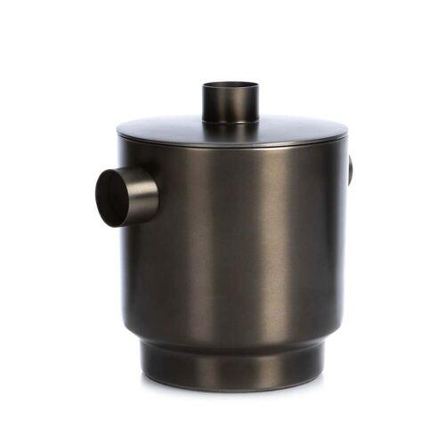 XLBoom - Rondo Eiswürfelbehälter small, Stahl schwarz, Ø 13 cm