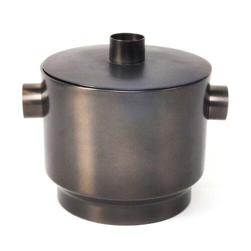 XLBoom - Rondo Eiswürfelbehälter, Stahl schwarz, Ø 18 cm
