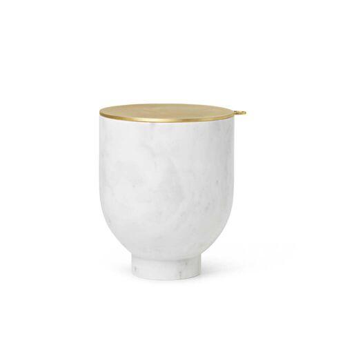 ferm LIVING - Alza Eiswürfelbehälter, Marmor weiß / Messing