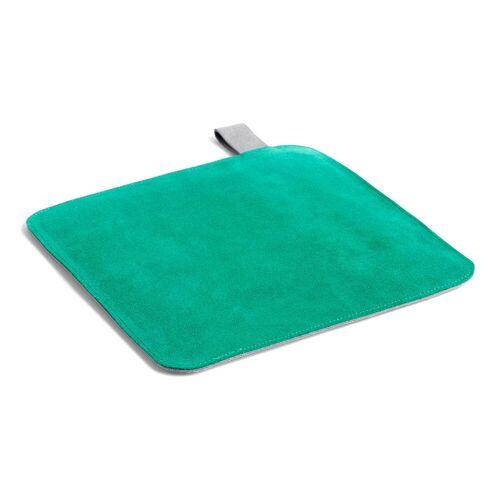 HAY - Suede Topflappen, 21,5 x 21,5 cm, grün