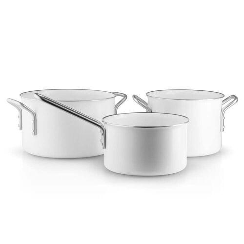 Eva Trio - White Line Topfset Stielkasserolle 1.8 l / Kochtopf 2.5 l / Kochtopf 3.8 l