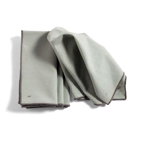 HAY - Contour Serviette, 40 x 40 cm, grau (4er-Set)