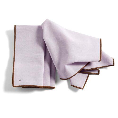 HAY - Contour Serviette, 40 x 40 cm, lavendel (4er-Set)