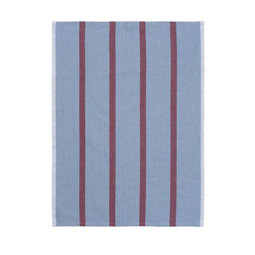 ferm LIVING - Hale Geschirrtuch, blau-burgund