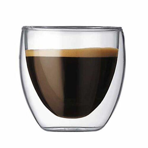 Bodum - Pavina doppelwandiges Trinkglas, 0.08 l (2er Set)