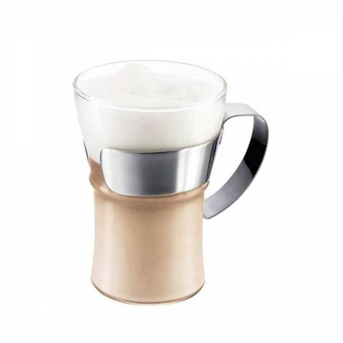 Bodum - Assam Kaffeeglas mit Edelstahlgriff (2er-Set)
