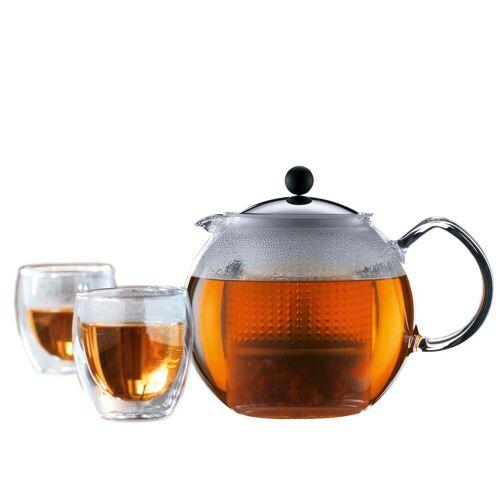 Bodum - Assam,Tee-Set (Teebereiter und Gläser)