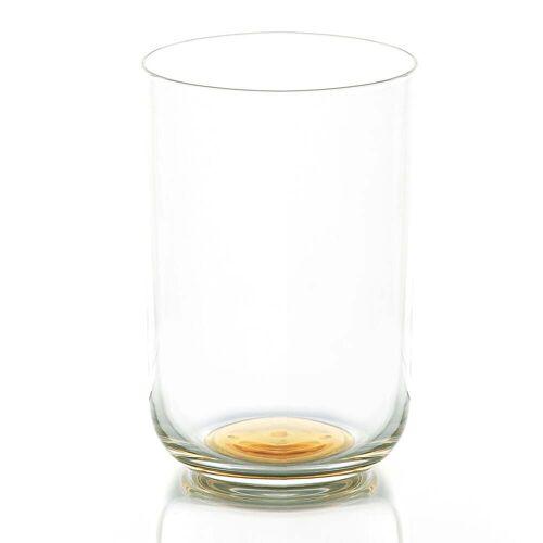 HAY - Colour Glass, Wasserglas hoch, goldener Punkt
