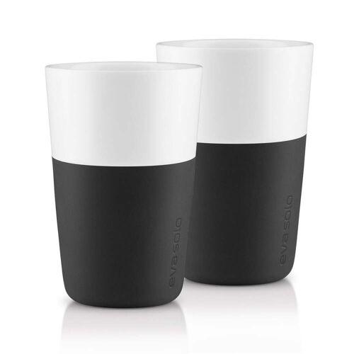 Eva Solo - Caffé Latte-Becher (2er-Set), schwarz