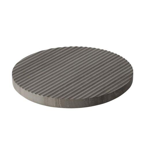 Muuto - Groove Marmor-Untersetzer Ø 21,6 cm, grau