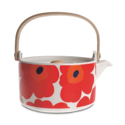 Marimekko - Oiva Unikko Teekanne, weiß / rot