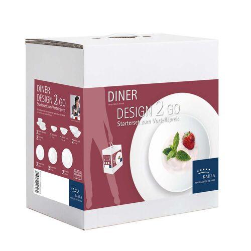 KAHLA - Diner Design 2 Go Geschirr-Set, weiß (14 tlg.)