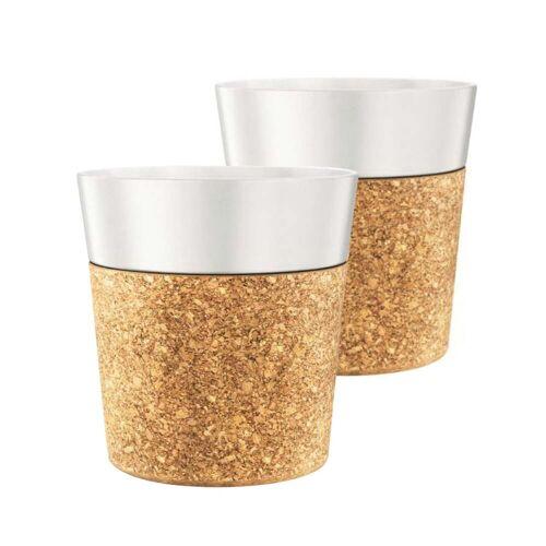 Bodum - Bistro Tasse, 0.3 l, weiß / kork (2er-Set)
