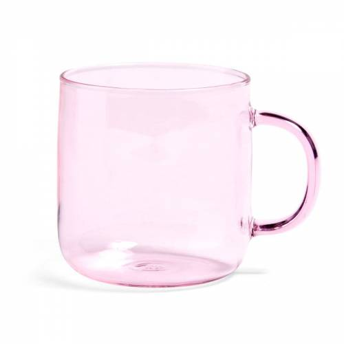 HAY - Borosilikat Becher, Ø 8 x H 8.5 cm, rosa