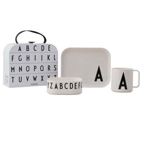 Design Letters - Kindergeschirr-Set inkl. Koffer, A