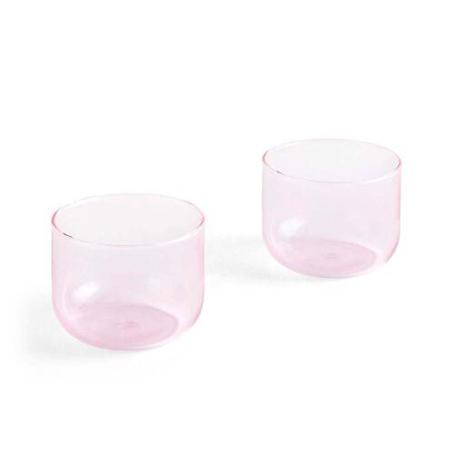 Hay - Tint Trinkglas 200 ml, rosa (2er-Set)