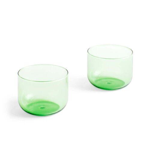 Hay - Tint Trinkglas 200 ml, grün (2er-Set)