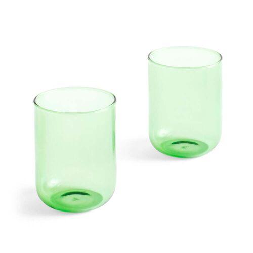 Hay - Tint Trinkglas 300 ml, grün (2er-Set)