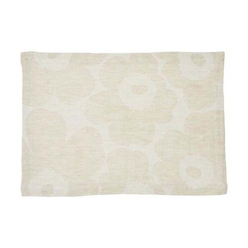 Marimekko - Pieni Unikko Tischset gewebt, beige / weiß