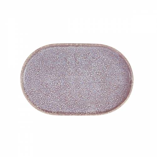 HKliving - Gallery Teller 23,5 cm, oval, lila