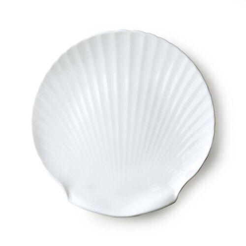 HKliving - Athena Muschel Servierteller weiß, Ø 27 cm