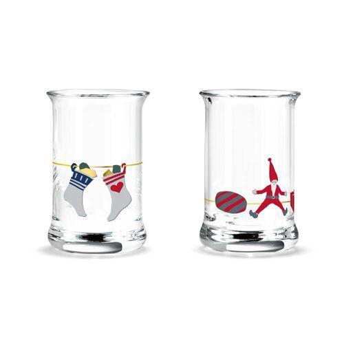 Holmegaard - Weihnachts-Schnapsglas, 3 cl (2er Set)