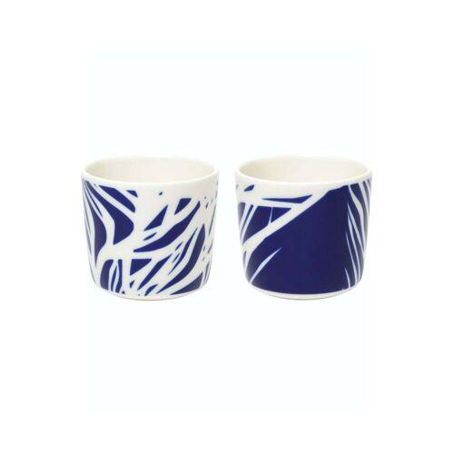 Marimekko - Ruudut Becher (2er-Set), 200 ml, weiß / blau