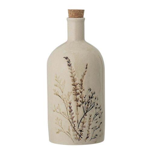 Bloomingville - Bea Geschirr, Flasche mit Deckel, natur