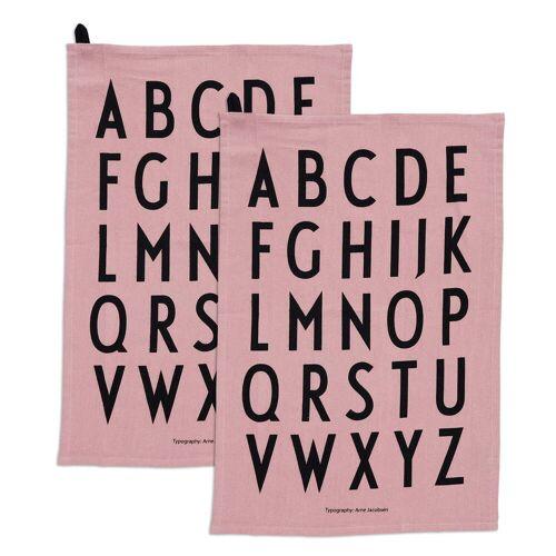 Design Letters - Classic Geschirrtuch, lavendel (2er-Set)