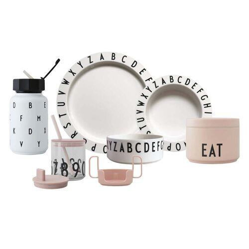 Design Letters - Eat & Learn Kids Geschirr Starter Set premium, nude / weiß